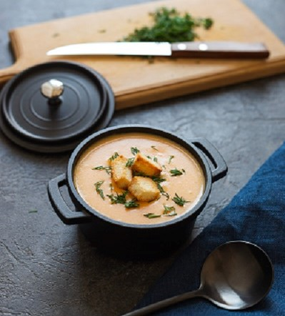 Низкокалорийный Сливочный суп из семги (горбуши).